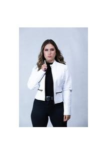 Jaqueta De Couro Parra Couros Feminina Bela Branco