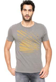 Camiseta Aramis Regular Fit Estampada Cinza
