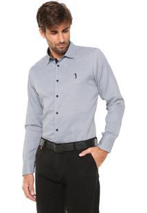 Camisa Aleatory Slim Padronagem Cinza