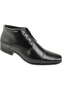Sapato Constantino Cano Alto Masculino - Masculino-Preto