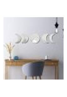 Espelho Decorativo Fases Da Lua Em Acrílico Sala Quarto