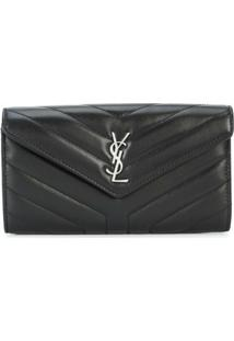 Saint Laurent Carteira 'Loulou' - Preto