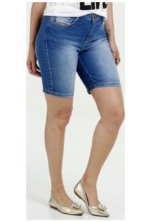 7579cd879 ... Bermuda Feminina Jeans Stretch Marisa