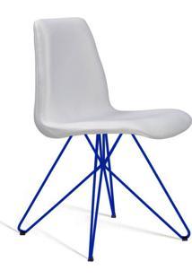 Cadeira De Jantar Eames Butterfly Azul E Cru