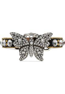 Gucci Pulseira 'Butterfly' Com Cristais - Preto