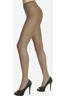 Meia Calça Feminina Dedos Livres Fio 15 Loba - Feminino-Nude