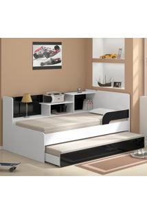 Bicama Com Estante 0740 Branco Premium - Multimóveis