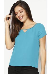 Blusa Lisa Com Tira - Azul- Moiselemoisele