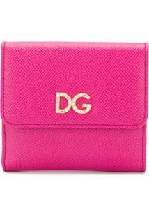 Dolce & Gabbana Carteira De Couro Com Aplicações - Rosa