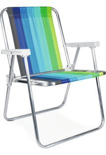 Cadeira Alta Mor 002101 Aluminio Cor Sortida