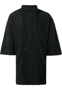 Homme Plissé Issey Miyake Camisa Gola Alta - Preto
