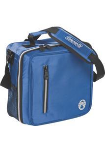 Bolsa Térmica Messenger Coleman Azul Capacidade Para 12 Latas Com Alça