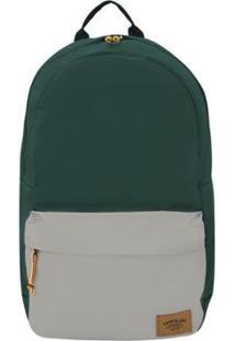 Mochila Timberland Backpack Colorblock 22L - Masculino-Musgo+Cinza