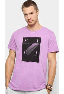 Camiseta Foxton Estampa Design Masculina - Masculino-Lilás