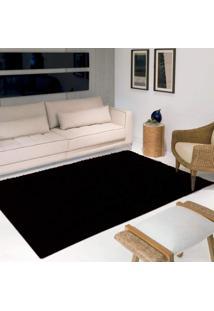 Tapete Luxo Pelo Super Macio Casa Dona Preto 200X250Cm