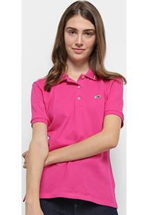 Camisa Polo Tommy Hilfiger Classics Feminina - Feminino-Pink