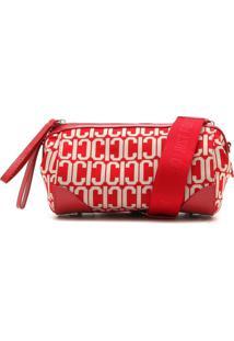 Bolsa Carmim Estampada Vermelha