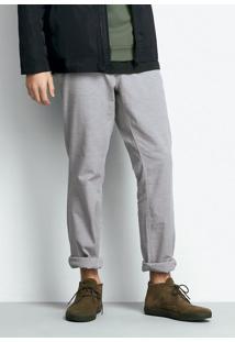 Calça Masculina Em Tecido Maquinetado De Algodão