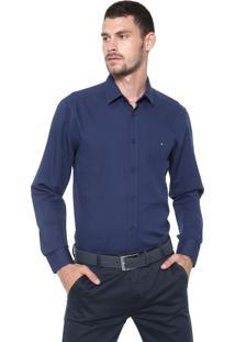 Camisa Aramis Slim Quadriculada Azul-Marinho