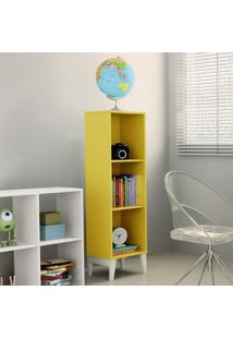Estante Livreiro Com Prateleiras Twister Tcil Móveis Tcil Móveis Amarelo