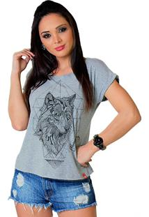 Camiseta Wevans Raposa Stone Cinza