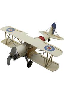 Enfeite Decorativo Minas De Presentes Avião Branco - Kanui
