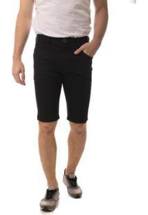 Bermuda Jeans Eventual Middle Masculina - Masculino-Preto