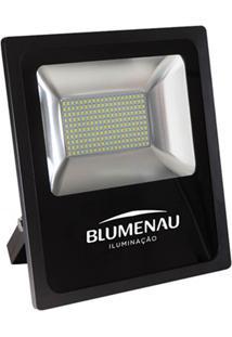 Refletor Led 100W Bivolt 6000K Slim Preto Luz Branca