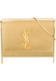 Saint Laurent Boxy Kate Crossbody Bag - Dourado