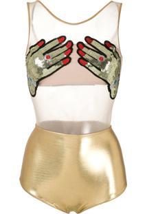 Brigitte Body Mão De Carnaval - Dourado