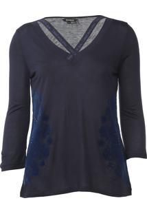 Blusa Desigual Lorren Azul-Marinho