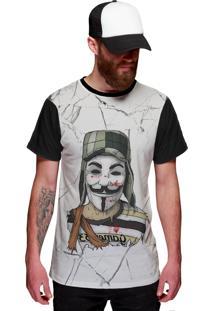 Camiseta Di Nuevo Vendetta V Chaves White Preta
