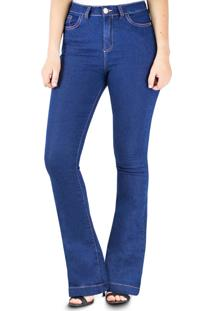 Calça Klass Jeans Flare Amaciada Azul