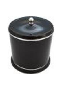 Lixeira Plástica Pequena 5L Para Cozinha Banheiro Com Tampa Preto