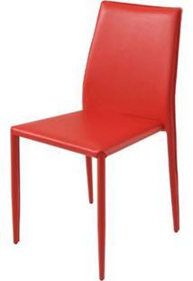 Cadeira Amanda 6606 Em Metal Pvc Vermelha - 30649 Sun House