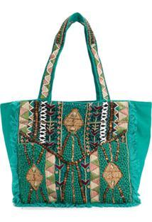 b9e4d2ffb R$ 1714,00. Farfetch Bolsa Verde Feminina Cotton Tote Batik Mauri - Antik