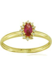 Anel Ouro 18K Pedras Vj6426