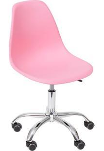 Cadeira Eames Dkr- Rosa & Prateada- 93X47X41Cm- Or Design