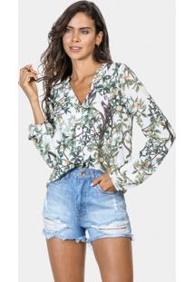 Camisa Manga Longa Estampa Tecido Sagui - Lez A Lez