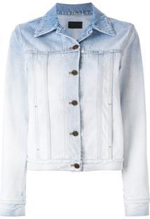 Saint Laurent Jaqueta Jeans Degradê - Azul