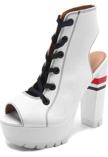 Ankle Boot Vizzano Liso Branco