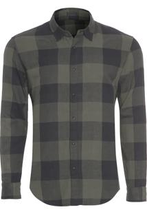 Camisa Masculina Double Vichy - Verde