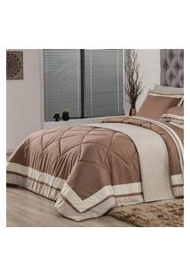 Edredom Queen Plumasul Soft Comfort 240X260Cm Microfibra Café