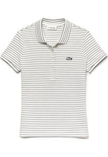 Polo Lacoste Slim Fit Branco