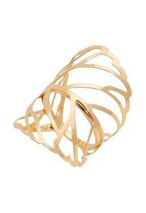 Anel Banhado A Ouro- Dourado- Tamanho 14 Ao 18- Isabela Borgonian