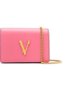 Versace Bolsa Transversal Virtus Mini - Rosa