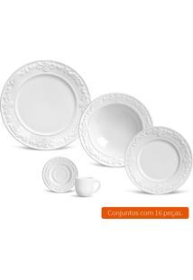 Aparelho De Jantar Com 16 Peças Acanthus Branco