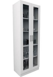 Armário Escritório Com Portas De Vidro Office Plus Branco