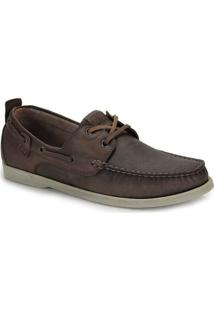 Sapato Dockside Masculino Democrata Rocksider - Cafe