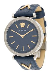 Versace Relógio 36Mm - Azul